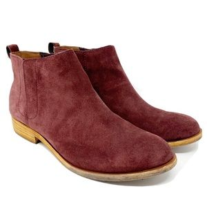 Kork Ease wine suede ankle boots 9